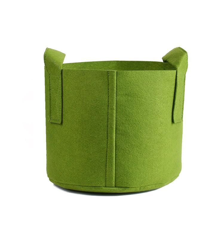 Nursery Garden Aeration Fabric Pots 3 Gallon Grow Bag Felt Plant Pot With Sturdy Handle