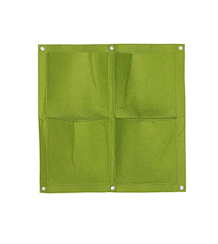 Deeper and Bigger 7 Pocket Hanging Felt Vertical Garden Wall Planter Pocket Bag