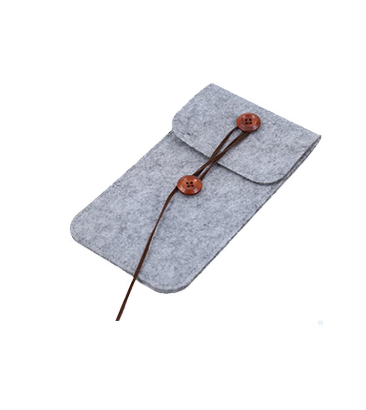 Hot selling felt pouch mobile phone case bag
