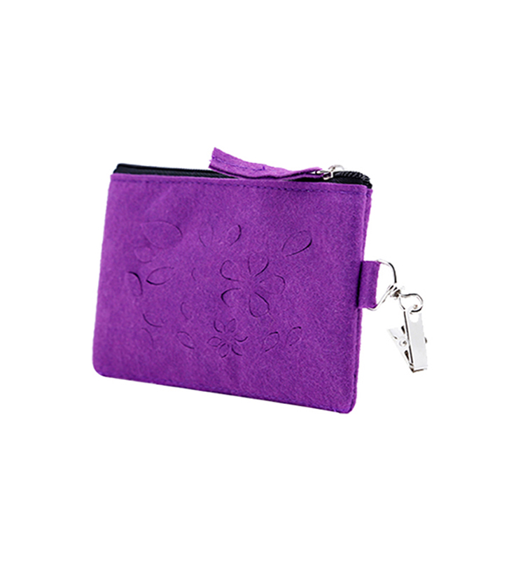 Factory direct portable fashion felt Wallet