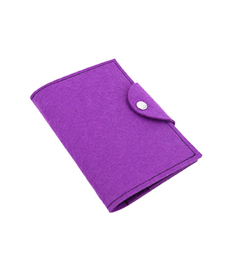Custom card cash passport wool felt wallet