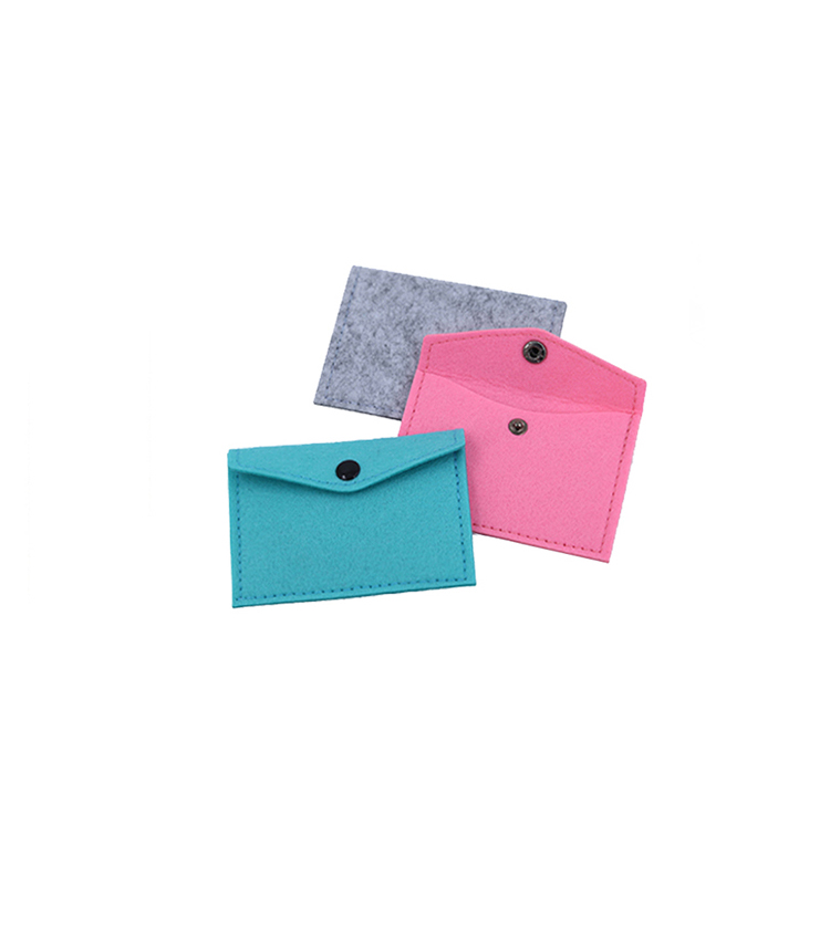 Best price superior quality business felt card holder with logo