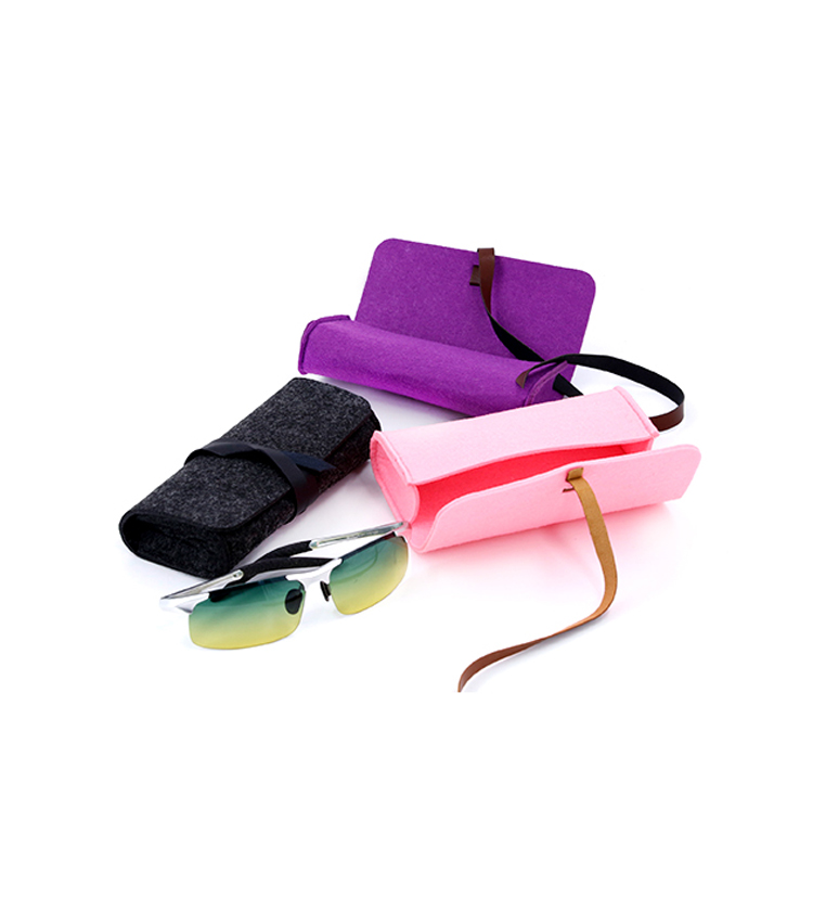Multipurpose strap felt glasses case