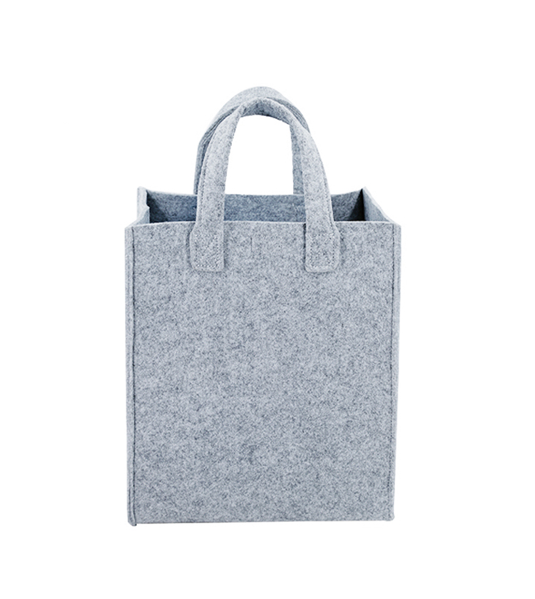 Grey shopping tote bag