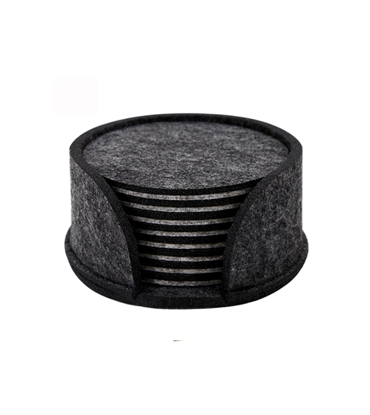 eco-friendly custom shape polyester felt coaster for cup glass table kitchen